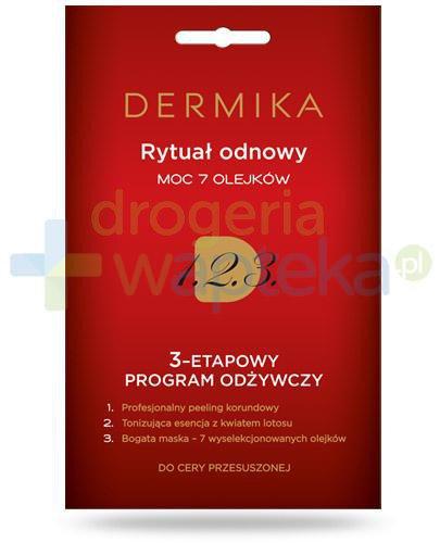 Dermika Rytuał odnowy moc 7 olejków 3-etapowy program odżywczy do cery przesuszonej 3x ...