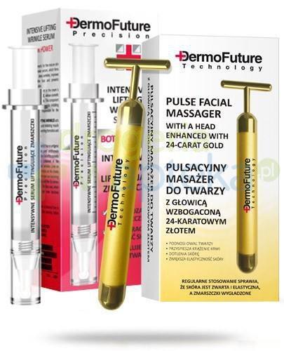 Dermo Future Masażer pulsacyjny do twarzy 1 sztuka + Dermo Future Botox Power intensywne serum liftingujace zmarszczki 1 sztuka [ZESTAW]
