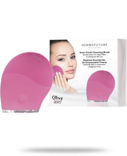 DermoFuture Soniczna szczoteczka do oczyszczania twarzy różowa 1 sztuka