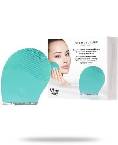 DermoFuture Soniczna szczoteczka do oczyszczania twarzy zielona 1 sztuka