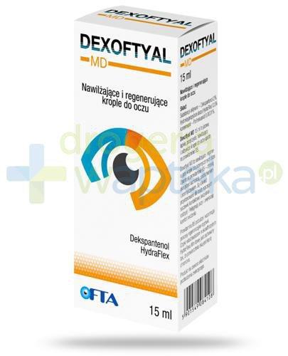 Dexoftyal MD nawilżające i regenerujące krople do oczu 15 ml