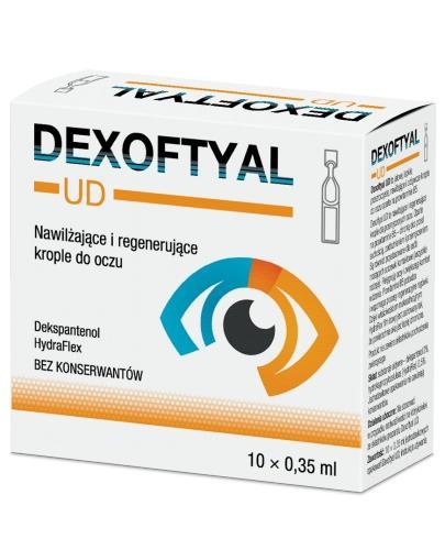 Dexoftyal UD nawilżające i regenerujące krople do oczu 10x 0,35 ml