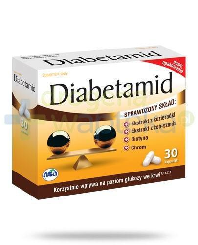 Diabetamid na poziom cukru we krwi 30 kapsułek