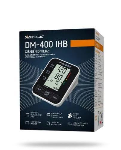 Diagnostic DM-400 IHB ciśnieniomierz automatyczny naramienny z zasilaczem 1 sztuka + suplementy diety [ZESTAW]
