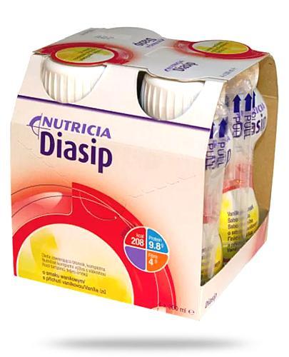 Diasip o smaku waniliowym płyn odżywczy 4 x 200 ml