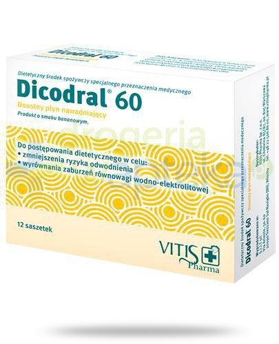 Dicodral 60 doustny płyn nawadniający 12 saszetek