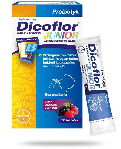 Dicoflor Junior żywe kultury bakerii 12 saszetek