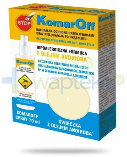 Domowa Apteczka KomarOff ze świeczką z oleju andiroba 70 ml [ZESTAW]