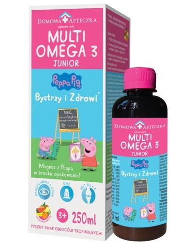 Domowa Apteczka MultiOmega 3 Junior płyn dla dzieci powyżej 3 lat smak owoców tropikaln...