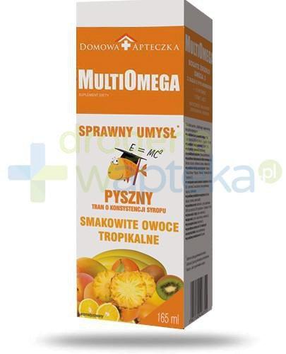 Domowa Apteczka MultiOmega Sprawny umysł tran o smaku owoców tropikalnych 165 ml