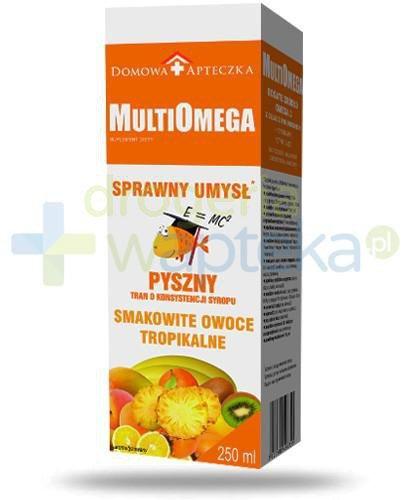Domowa Apteczka MultiOmega Sprawny umysł tran o smaku owoców tropikalnych 250 ml