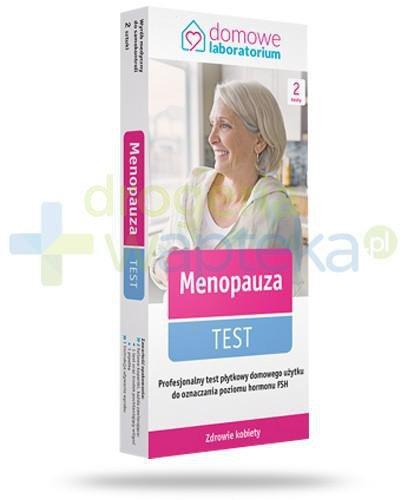 Domowe Laboratorium Menopauza test płytkowy do oceny poziom hormonu FSH 2 sztuki