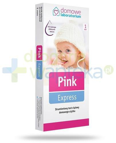 Domowe Laboratorium Pink Express test ciążowy strumieniowy 1 sztuka