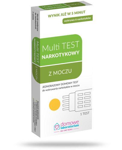 Domowe Laboratorium Multi Test test paskowy do wykrywania narkotyków w moczu 1 sztuka
