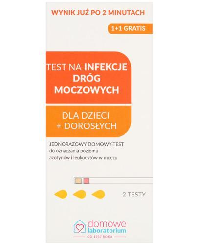 Domowe Laboratorium test na infekcję dróg moczowych 2 sztuki