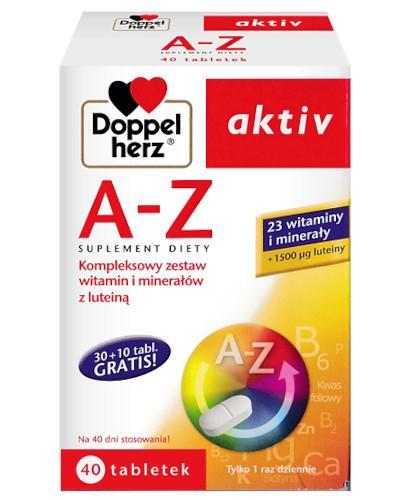 Doppelherz Aktiv A-Z kompleksowy zestaw witamin i minerałów z luteiną 40 tabletek