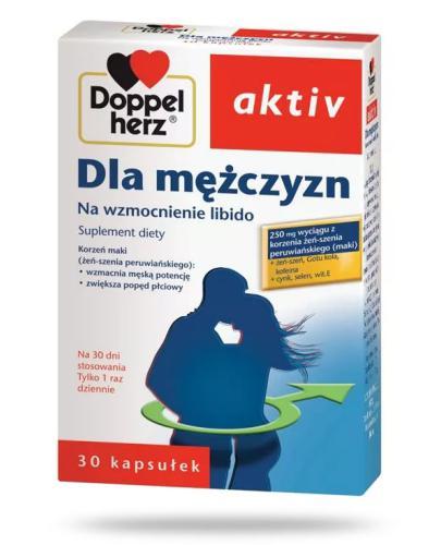 DoppelHerz Aktiv Dla mężczyzn na wzmocnienie libido 30 kapsułek