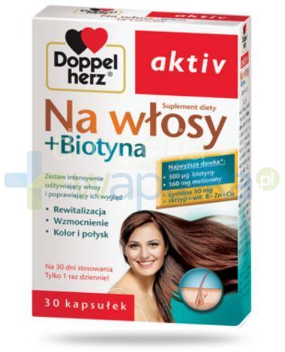 Doppelherz Aktiv Na włosy + Biotyna 30 kapsułek