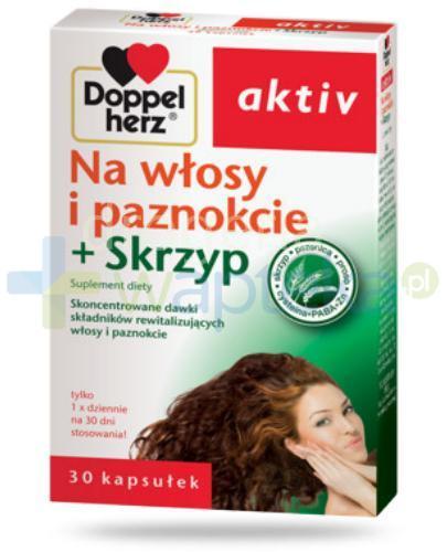 Doppelherz Aktiv Na włosy i paznokcie + Skrzyp 30 kapsułek