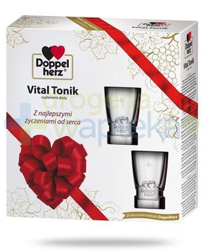 DoppelHerz Vital Tonik na wzmocnienie serca 750 ml  + kieliszki [ZESTAW]