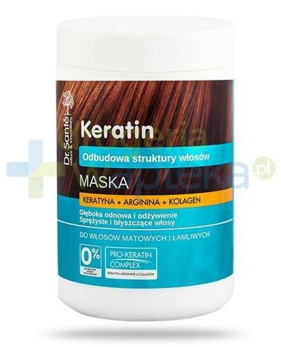 Dr. Sante Keratin maska z keratyną argininą kolagenem do włosów matowych i łamliwyc...