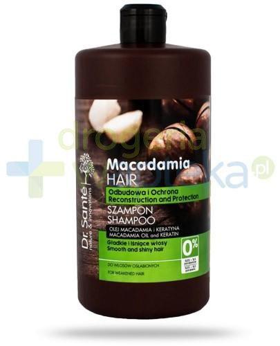 Dr. Sante Macadamia szampon z olejem macadamia i keratyną odbudowujący ochronny 1000 ml Elfa Pharm