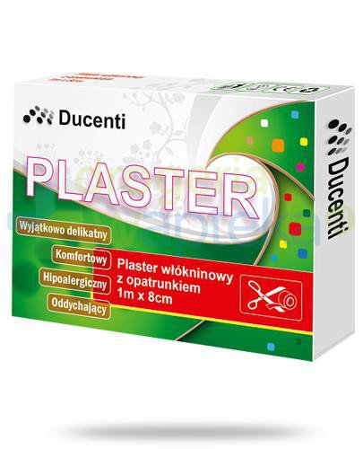 Ducenti plaster włókninowy do cięcia z opatrunkiem 1m x 8cm