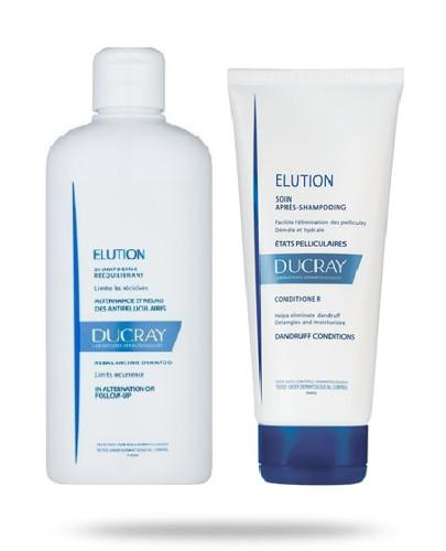 Ducray Elution szampon przywracający równowagę skórze głowy 400 ml + odżywka do wło...