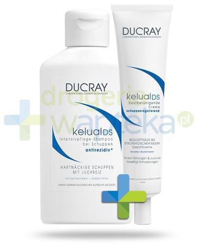 Ducray Kelual DS szampon specjalistyczny przeciwłupieżowy 100ml + krem kojący redukują...