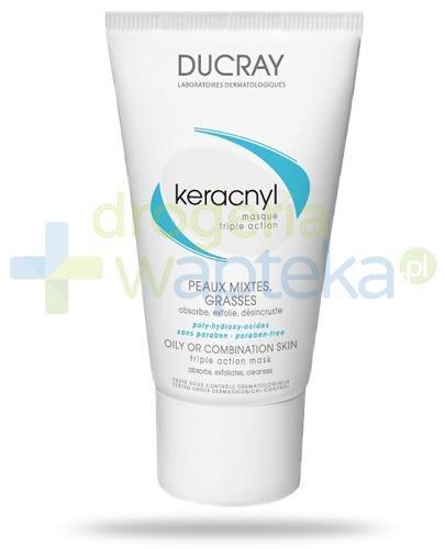Ducray Keracnyl maska oczyszczająca do skóry tłustej i mieszanej 40 ml