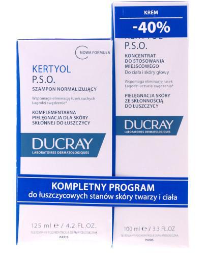 Ducray Kertyol PSO szampon o działaniu keratolitycznym 125 ml + krem o działaniu keratol...