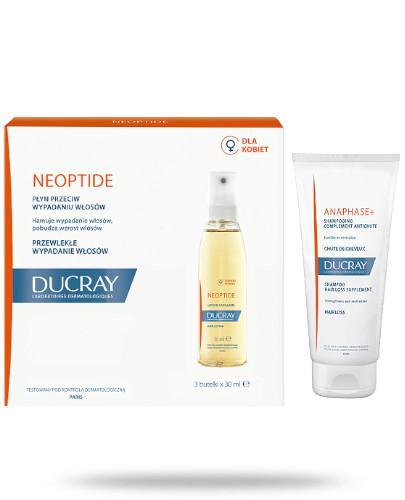 Ducray Neoptide płyn przeciw wypadaniu włosów 3x 30 ml + Ducray Anaphase szampon stymul...