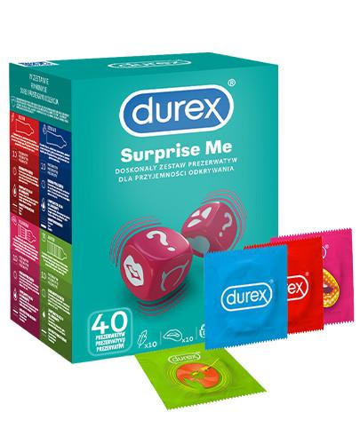 Durex Surprise Me zestaw prezerwatyw 40 sztuk