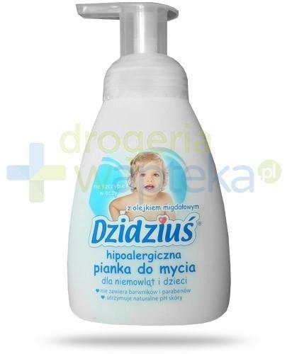 Dzidziuś hipoalergiczna pianka w płynie dla niemowląt i dzieci z olejkiem migdałowy...  whited-out