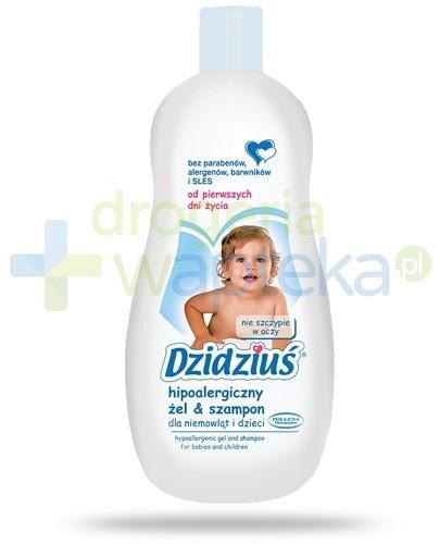 Dzidziuś hipoalergiczny żel i szampon dla niemowląt i dzieci od pierwszych dni życia 500 ml