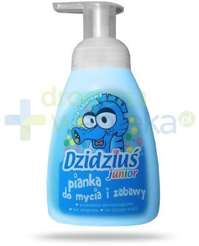 Dzidziuś Junior hipoalergiczna pianka w płynie dla niemowląt i dzieci o zapachu gumy ba...  whited-out