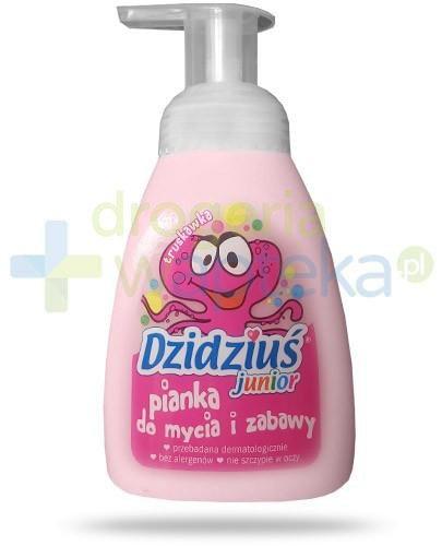 Dzidziuś Junior hipoalergiczna pianka w płynie dla niemowląt i dzieci o zapachu truskaw...  whited-out