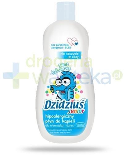 Dzidziuś Junior hipoalergiczny płyn do kąpieli dla niemowląt i dzieci o zapachu gumy b...  whited-out