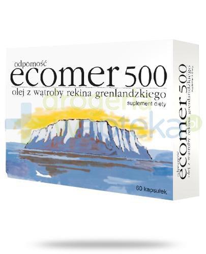 Ecomer Odporność 500 olej z wątroby rekina grenlandzkiego 60 kapsułek  whited-out
