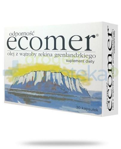 Ecomer Odporność olej z wątroby rekina grenlandzkiego 30 kapsułek  whited-out