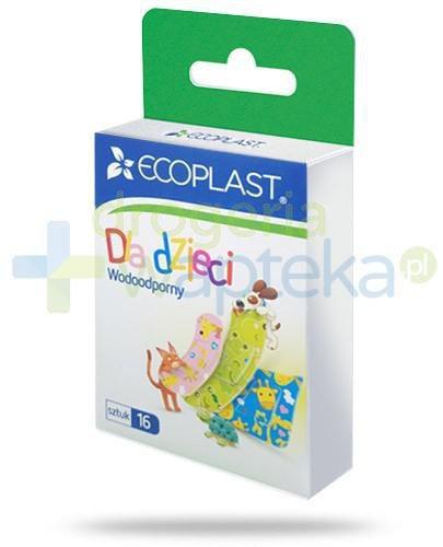 EcoPlast Dla dzieci zestaw plastrów medycznych polimerowych wodoodpornych 16 sztuk