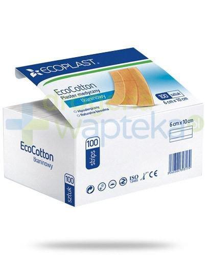 EcoPlast EcoCotton plastry medyczne tkaninowe 6x 10cm 100 sztuk