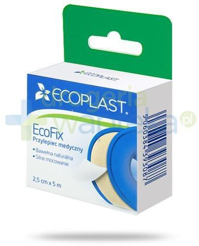EcoPlast EcoFix przylepiec medyczny tkaninowy 2,5x 500cm z wieszakiem