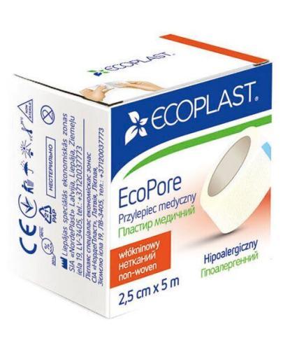 EcoPlast EcoPore przylepiec medyczny 2.5 cm x 5 m 1 sztuka