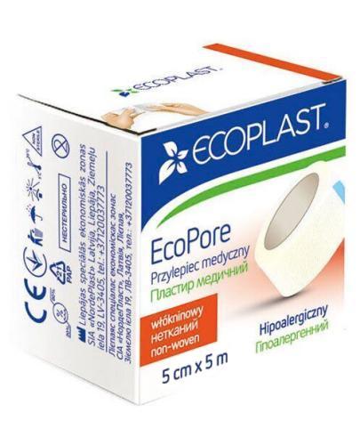 EcoPlast EcoPore przylepiec medyczny 5 cm x 5 m 1 sztuka