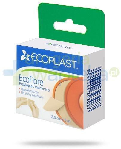 EcoPlast EcoPore przylepiec medyczny włókninowy 2,5x 500cm z wieszakiem