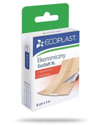 EcoPlast Ekonomiczny EcoSoft XL przylepiec medyczny włókninowy 8cm x 1m