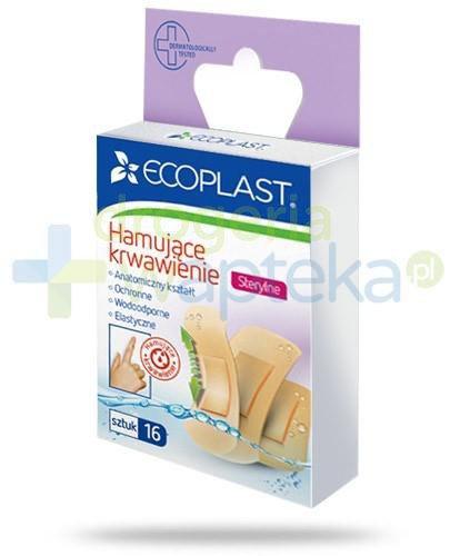 EcoPlast Hamujące krwawienie sterylne plastry elastyczne 16 sztuk