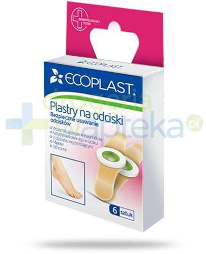 EcoPlast Plastry na odciski bezpieczne usuwanie odcisków 6 sztuk