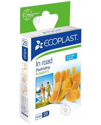EcoPlast Podróżny zestaw plastrów medycznych bawełnianych 20 sztuk  whited-out